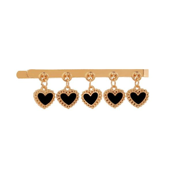 Heart-shaped drip oil clip hairpin NHHN155510
