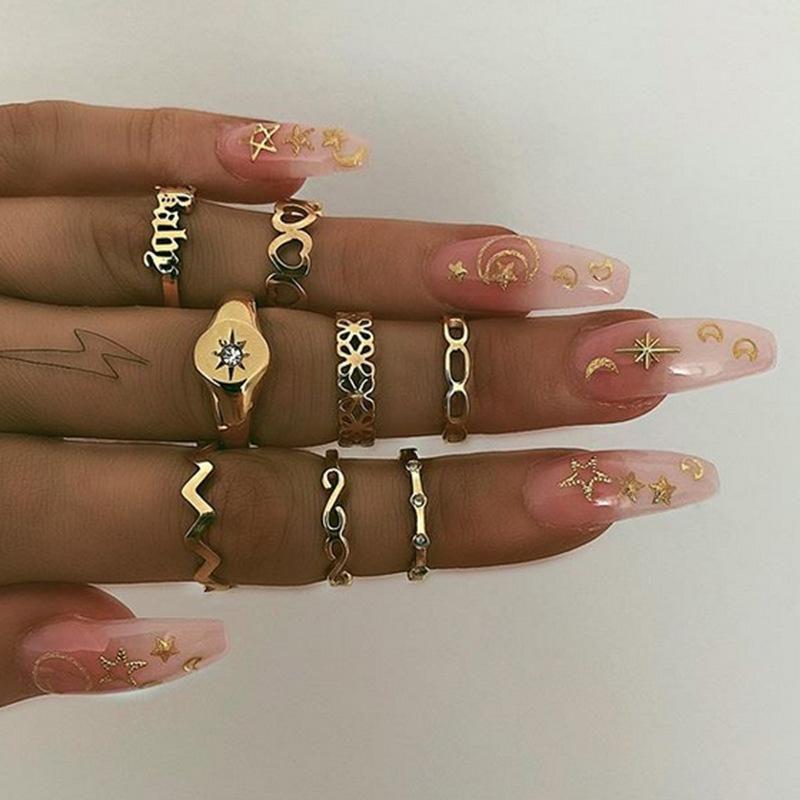 Love Letter Baby Ring Set NHNZ155511