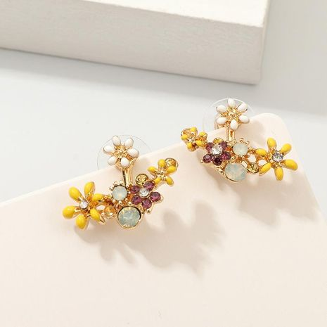 Painted petal drip stud earrings NHNZ155518's discount tags