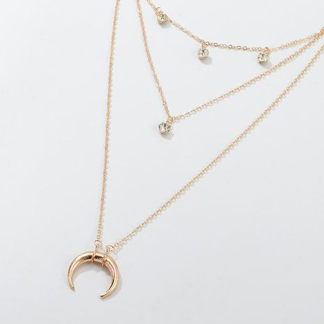 Fashion horn drop drop pendant alloy necklace NHNZ155535's discount tags