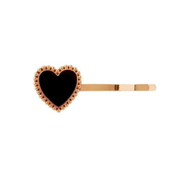 Red drip heart shaped clip hairpin NHHN155536