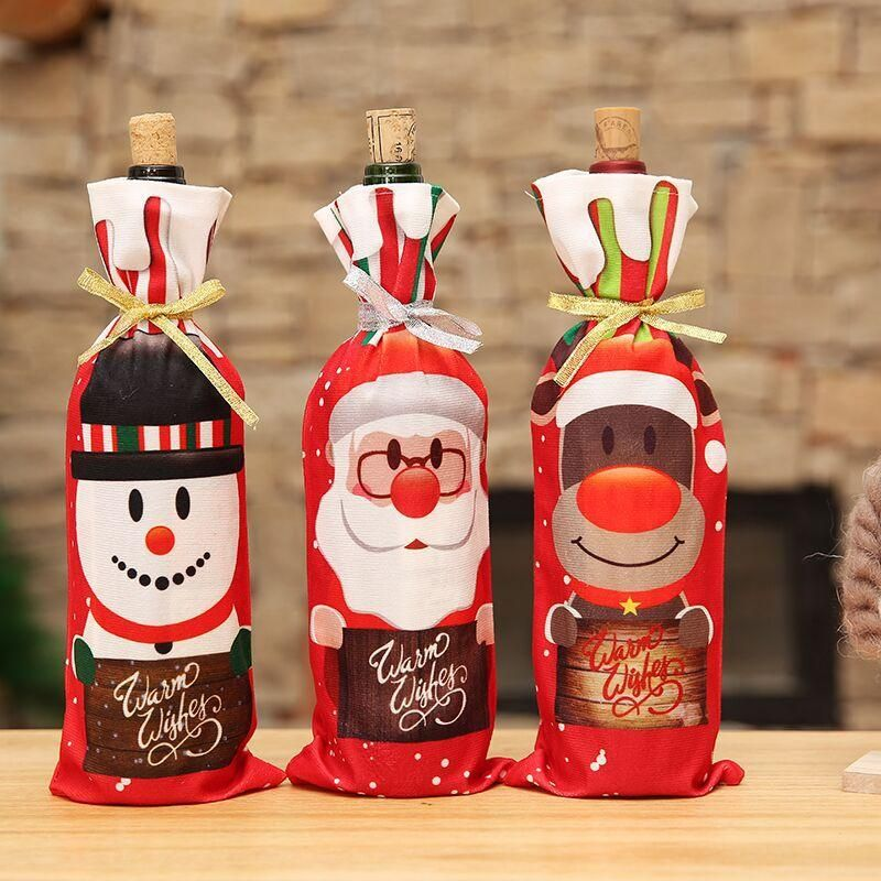Christmas new wine bottle set table home decoration supplies NHMV155557