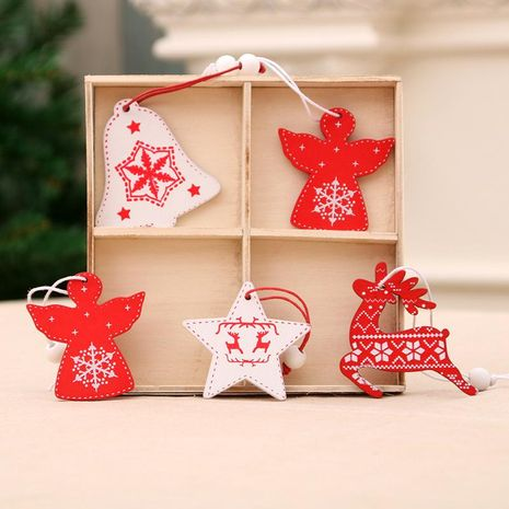 Christmas tree wooden pendant NHMV155560's discount tags