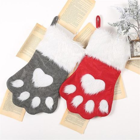Christmas dog claw socks children's gift bag pet socks candy bag NHMV155561's discount tags