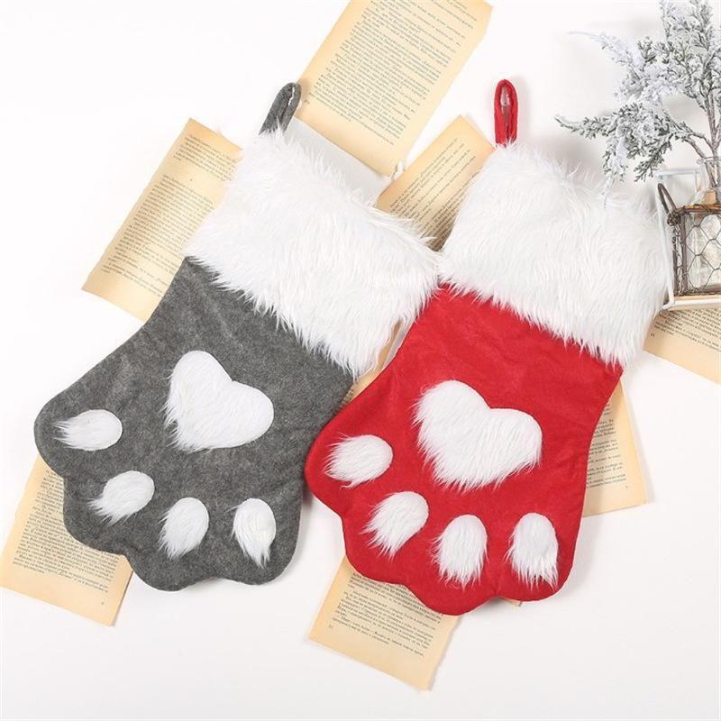 Christmas dog claw socks children's gift bag pet socks candy bag NHMV155561