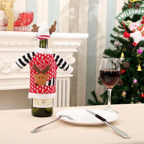 Christmas elk party red wine bottle set NHMV155564's discount tags