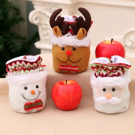 Christmas gift bag candy bag apple bag cartoon santa claus plush closed mouth gift bag NHMV155567's discount tags