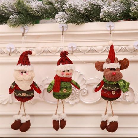New Christmas Santa Claus Snowman Fabric Doll Window Decorations NHMV155569's discount tags