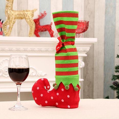 Christmas wave striped wine bottle bag gift bag NHMV155570's discount tags