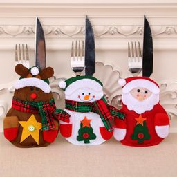 Christmas decoration new non-woven Santa Claus snowman cutlery bag NHMV155573