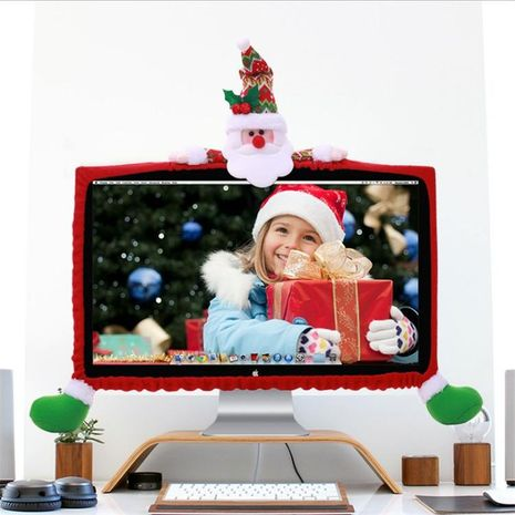 Three-dimensional cartoon Christmas decoration non-woven computer case NHMV155574's discount tags