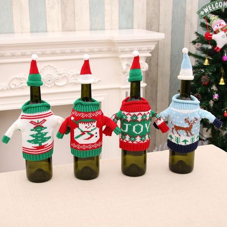 New Christmas Knit Sweater Bottle Set NHMV155575's discount tags