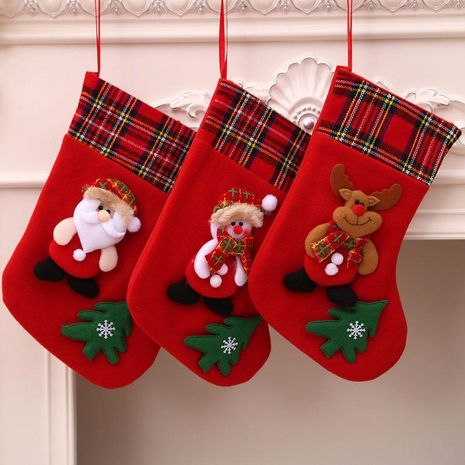Christmas gift bag medium plush three-dimensional pendant NHMV155581's discount tags