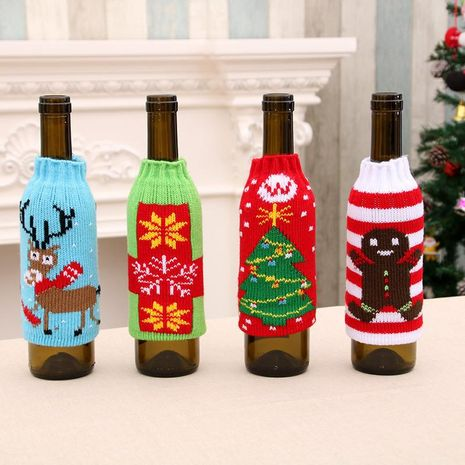 High-grade knitted Christmas beer bottle set NHMV155587's discount tags
