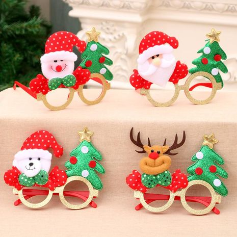 New cartoon antlers old man Christmas children glasses decoration NHMV155589's discount tags