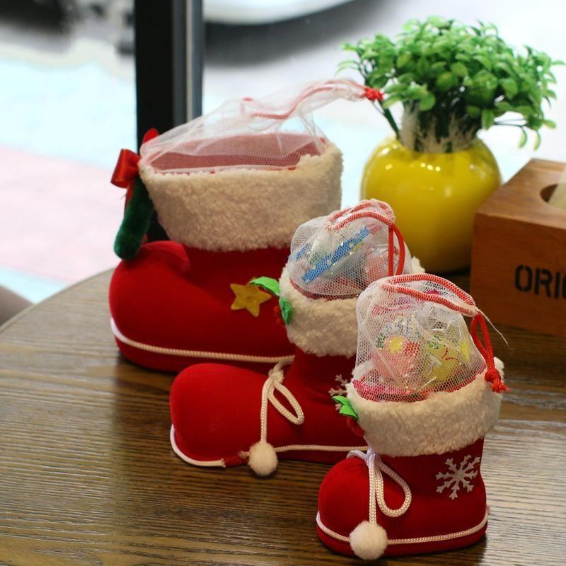 Gift bag Christmas sock boots candy box NHMV155591
