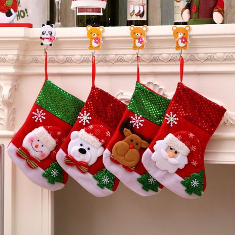 Flannel Santa Claus Christmas Socks Children's Gift Bag NHMV155592's discount tags