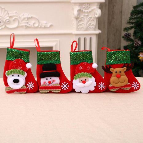 Santa Claus Sequin Christmas Socks Child Gift Bag NHMV155594's discount tags