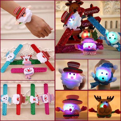 New Christmas children's gift sequins glow pat ring bracelet NHMV155598's discount tags