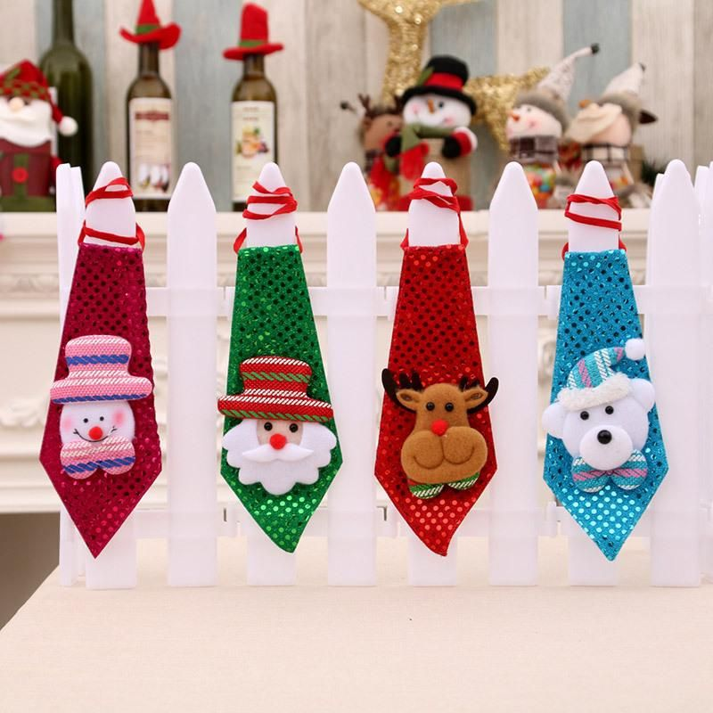 Christmas Decorations Adult Child Sequins Tie NHMV155601