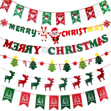 Christmas shop non-woven flag NHMV155602's discount tags