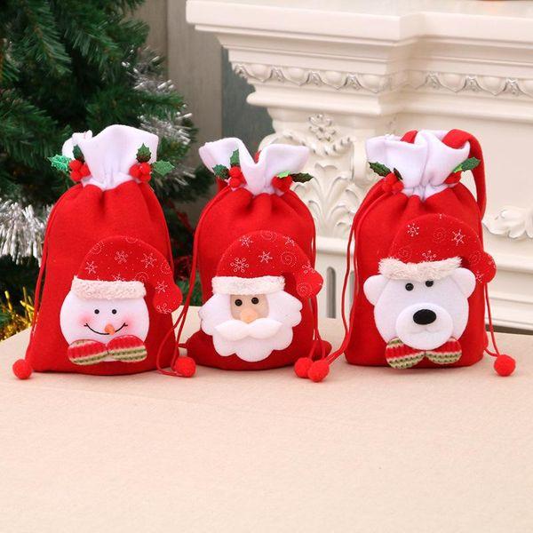 Christmas Gift Bag Apple Bag Santa Handle Pocket NHMV155606