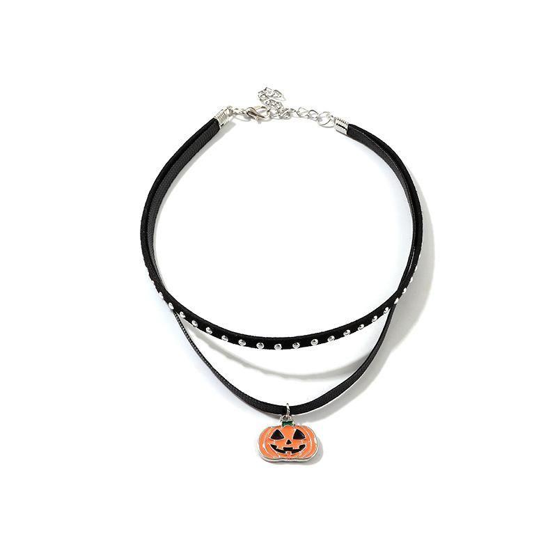 Halloween new fun pumpkin necklace NHNZ155609