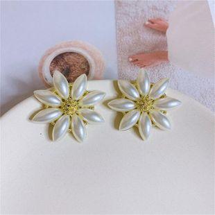 Fashion small fresh flower pearl earrings NHYQ149186's discount tags