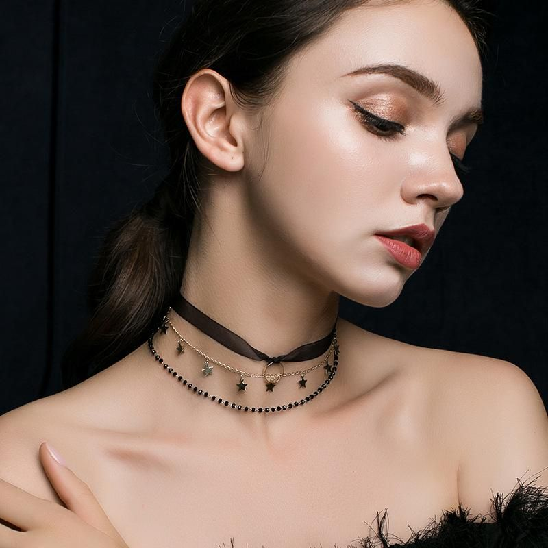 Womens Geometric Metal Choker NHLL149235