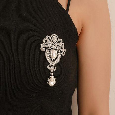 Mode verre foulard en soie boucle couronne cristal manteau broche NHDP149263's discount tags