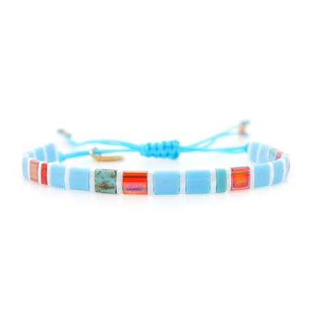 Fashionable rice bead woven bracelet NHGW149400's discount tags