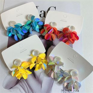 Fashion Flower Sequined Opal Earrings NHYQ149409's discount tags