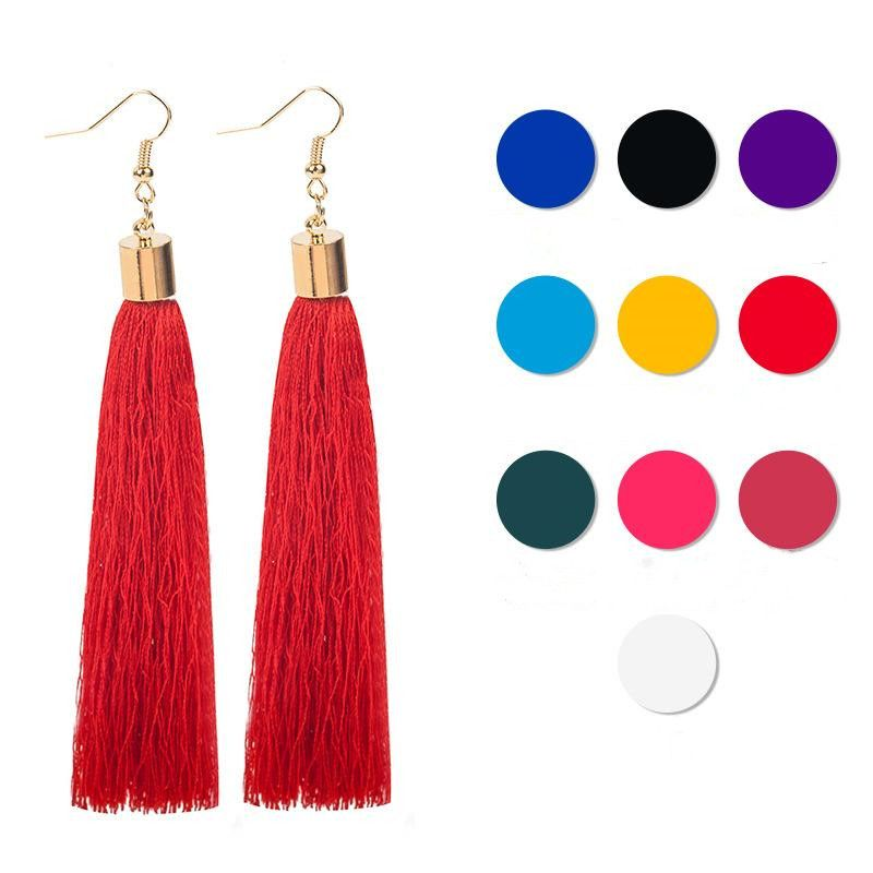 New cloth handmade tassel earrings NHDP149427
