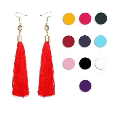 Fashion long diamond stud earrings NHDP149428's discount tags