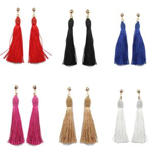 Fashion vintage hand-wound tassel long earrings NHDP149434's discount tags