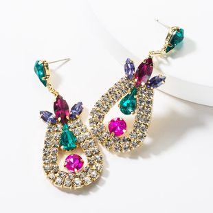 Fashion drop-shaped diamond earrings NHJE149451's discount tags