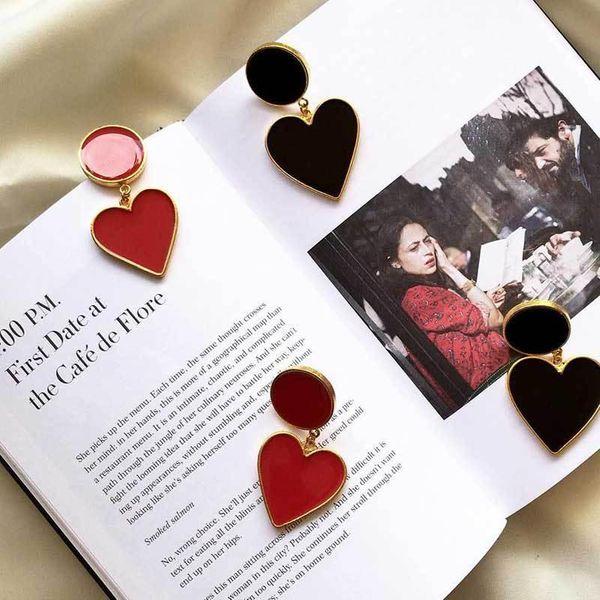 Fashion Heart Shaped Alloy Earrings NHOT149464