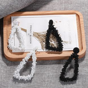 Fashion Hand Wrapped Triangle Resin Bead Earrings NHJQ149475's discount tags