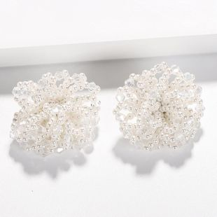 Fashion hand-woven beads stud earrings NHJQ149478's discount tags