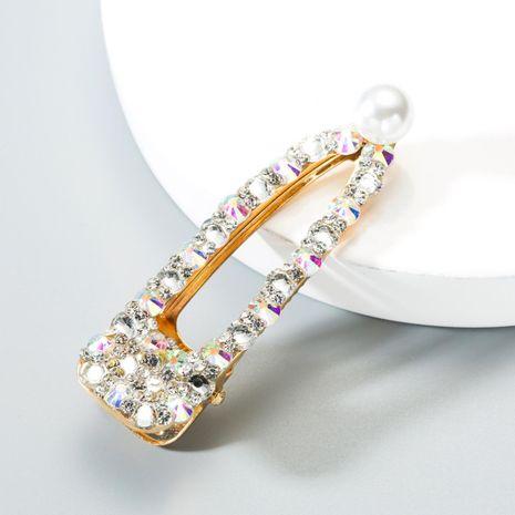 New metal diamond pearl hair clip NHLN149507's discount tags