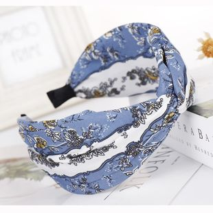 New print knotted cross headband NHHV149516's discount tags