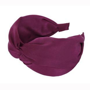 New solid color cloth handmade cross headband NHHV149533's discount tags
