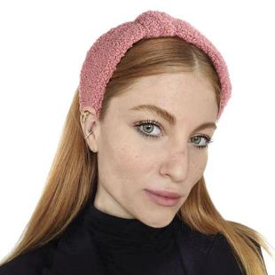 Simple cloth velvet cross knotted headband NHHV149536's discount tags
