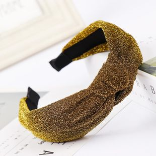 New bright silk stretch velvet knotted wide-brimmed headband NHHV149538's discount tags