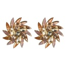 Fashion rhinestone flower full diamond stud earrings NHJE149457