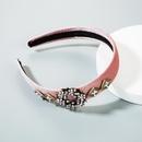 New retro gold velvet rhinestone pearl headband NHLN149526