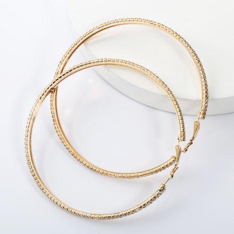 Alloy diamond large circle hoop earrings NHJE155618's discount tags