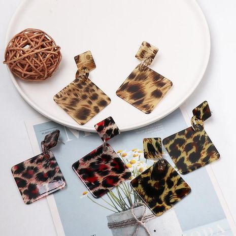 Leopard fashion resin earrings NHJJ155637's discount tags
