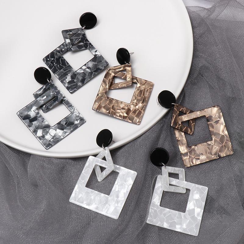 New resin geometric fashion earrings NHJJ155639
