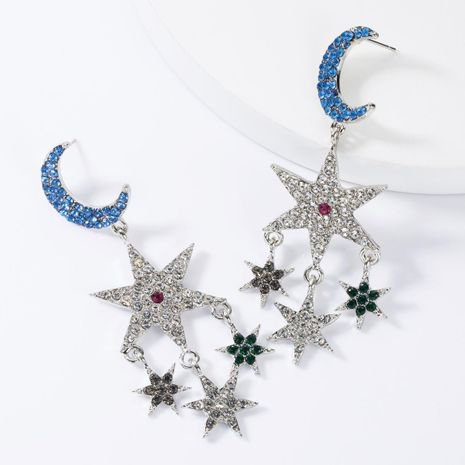 Fashion Multilayer Star Moon Rhinestone Earrings NHJE155638's discount tags
